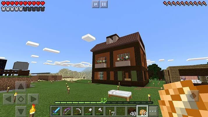 ドイツっぽい家を建築!ドイツ村建設開始?|#18 おじクラ - マインクラフトPE