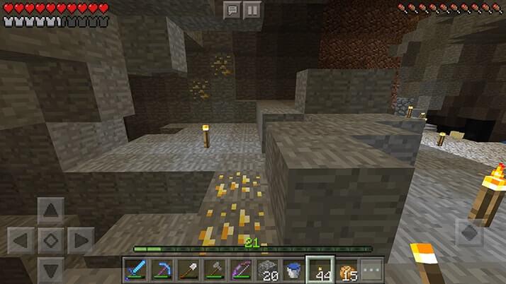 渓谷を探検してみたら鉱石だらけ!ダイヤモンドにラピスラズリ…|#21 おじクラ - マインクラフトPE