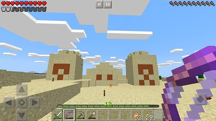 砂漠を探検!ハスクの強襲に焦りながらも寺院(ピラミッド)発見!!|#3 おじクラ - マインクラフトPE