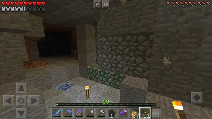 隣り合う2つのモンスタースポナーを洞窟で発見!!|#22 おじクラ - マインクラフトPE