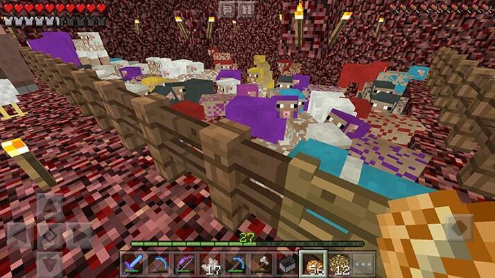 羊や牛をネザーに移動!村人も移動してミニ村作りスタート|#15 おじクラ - マインクラフトPE