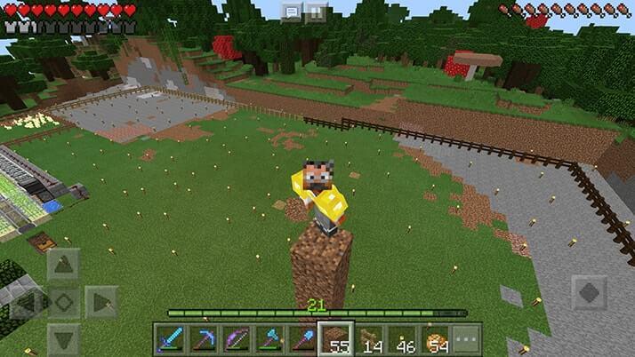整地しまくり!土と石を掘削して村の敷地を拡げる|#30 おじクラ - マインクラフトPE