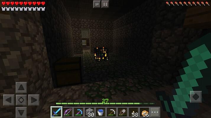廃坑で洞窟グモだけでなくゾンビ&スケルトンスポナー発見!|#36 おじクラ - マインクラフトPE