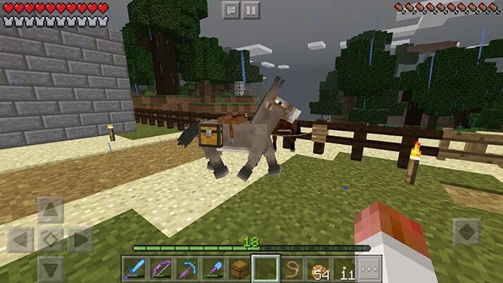 馬とロバのいいとこ取り!ラバを誕生させてみたらすごく便利|#42 おじクラ - マインクラフトPE