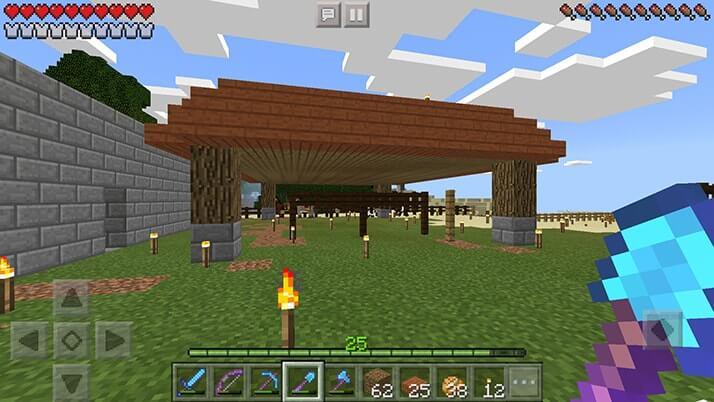 村に簡単な馬小屋を建設してみた!|#50 おじクラ - マインクラフトPE