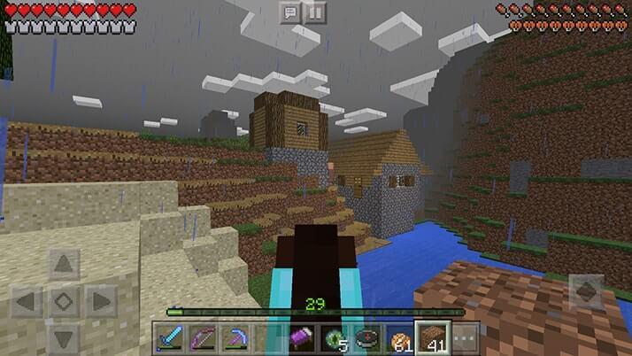 エンダーアイを投げて要塞(エンドポータル)探ししたら村の下に!?|#52 おじクラ - マインクラフトPE