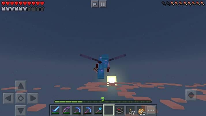 空を飛べるエリトラでマインクラフトの世界を初飛行!|#69 おじクラ - マインクラフトPE