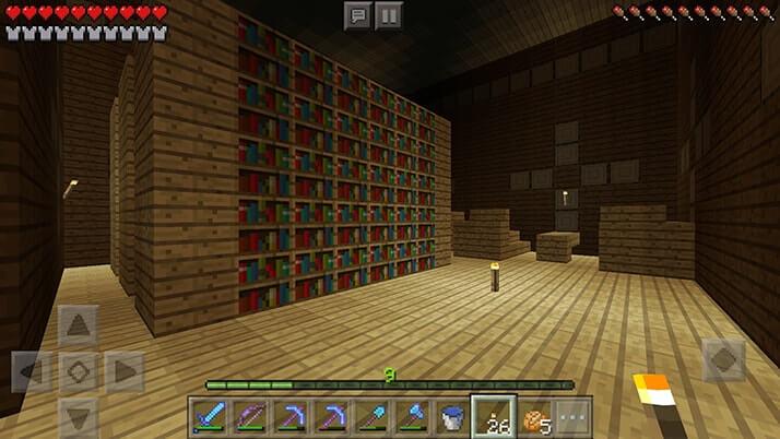 森の洋館2階へ!巨大な建物の中には部屋がいっぱい|#73 おじクラ - マインクラフトPE