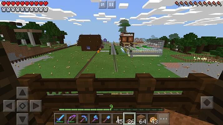 村拡張!拠点の村から近いところにもうひとつ村を作ってみた|#76 おじクラ – マインクラフトPE