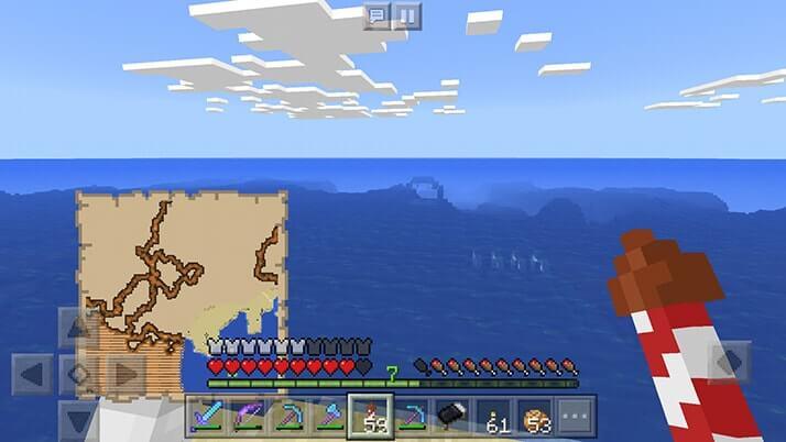 海洋探検家の地図で初の海底神殿へ!|#82 おじクラ – マインクラフトPE