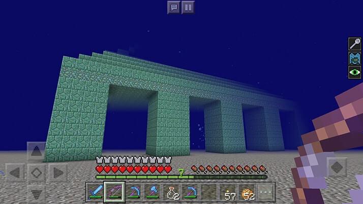 初の海底神殿探索開始!エルダーガーディアンと対戦|#83 おじクラ - マインクラフトPE