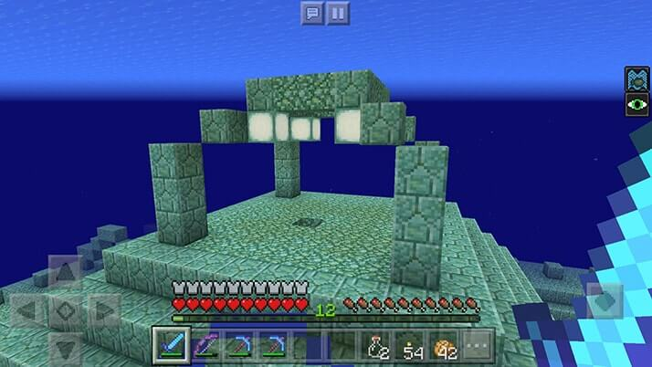 海底神殿探索続き!ポーション補給して素材大量GET|#84 おじクラ - マインクラフトPE