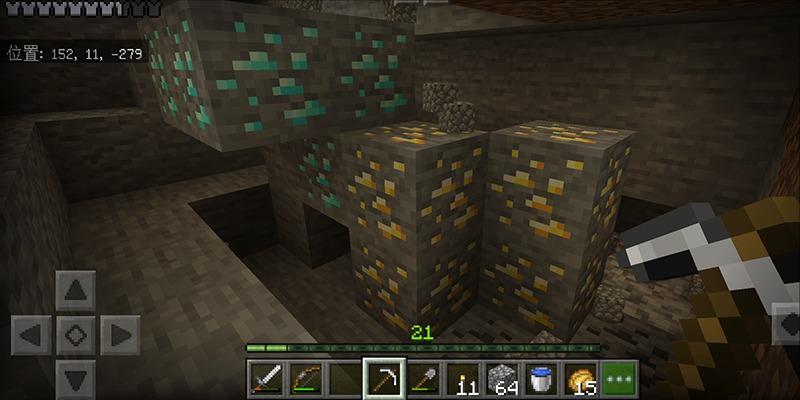 洞窟深部探検でダイヤモンドをついに発見!|#123 おじクラ - マインクラフト(BE)