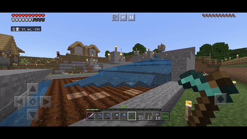 水流式自動収穫畑と整地!収穫が楽々簡単に♪|おじクラシーズン2 #9 – マインクラフト(BE)